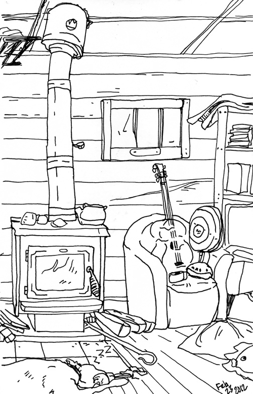 Living Room Sketch: Check Out Some Shack Sketches From Just Before We Moved